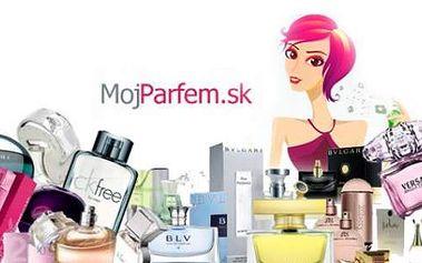 """Poukážka v hodnote 30 € na nákup parfémov v cene len 15 €, Poukážka sa vzťahuje na kategóriu """"Na sklade (do 48 hod.)"""". 50% zľava na svetoznáme značky parfémov Bvlgari, Calvin Klein, Hugo Boss, Dior, Dolce & Gabbana, Giorgio Armani, Versace a množstvo iných..."""