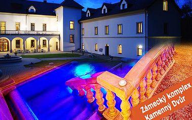 2 alebo 3 krásne noci na romantickom zámku Kamenný Dvůr pre 2 osoby s polpenziou, slávnostnou 4-chodovou večerou, fľašou sektu a zámockým wellness!