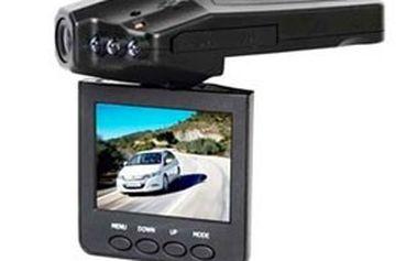 """Jezděte s důkazem! Kamera do auta s velmi vysokým HD rozlišením + IR přísvit, mikrofon, 2,5"""" LCD monitor a záznam obrazu a zvuku na SD kartu"""
