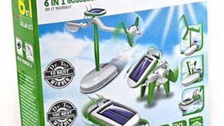 Pouhých 129 Kč za SOLÁRNÍ STAVEBNICI robota SolarKit 6v1! Geniální hračka spojující zábavu a vzdělaní pro malé i velké konstruktéry