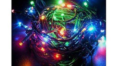Vánoční 10 m dlouhý LED řetěz se 100 různě barevnými LED diodami! Vhodný k použití v interiéru