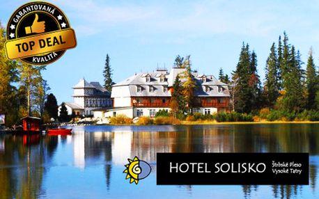 Luxusný 3-dňový pobyt priamo pri Štrbskom plese v hoteli Solisko**** pre 2 osoby! V cene aj bohatá polpenzia a neobmedzený vstup do wellness!