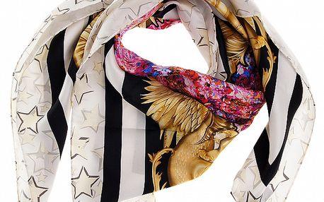 Dámský pestrobarevný hedvábný šátek Roberto Cavalli