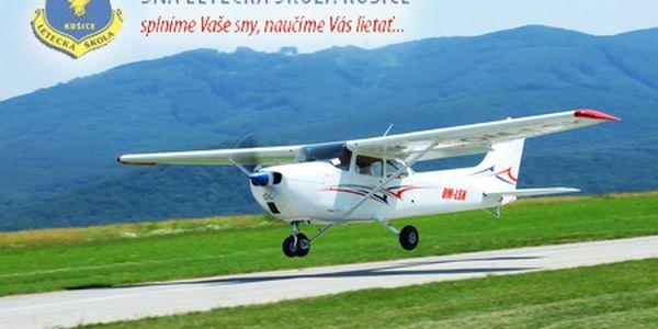 Lietajte s Leteckou školou Košice! Let pre 2 osoby len za 89 € alebo pre 1 osobu len za 69 €! Spolu so záznamom vášho zoznamovacieho letu na DVD a certifikátom o absolvovaní.