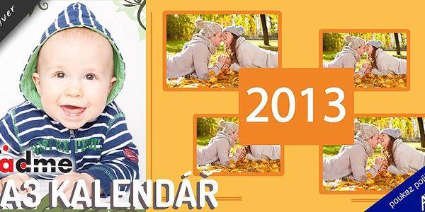 Vytvořte si originální A3 kalendář z vlastních fotek! Lámete si hlavu, co nadělit svým blízkým letos pod stromeček? Máme pro vás skvělý tip! Nechte sebe a své nejbližší po celý rok doprovázet nejhezčími okamžiky, které budete mít stále na očích.
