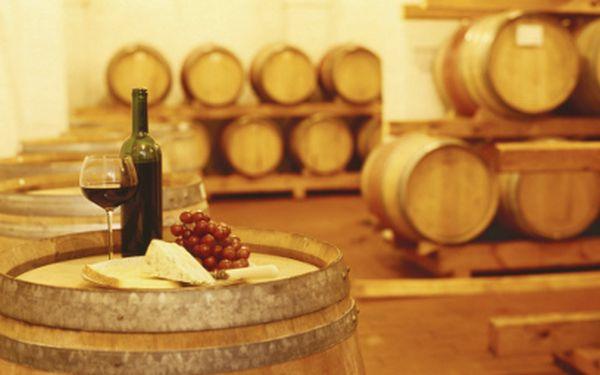 Posezení ve vinném sklepě s večeří za 180 Kč! Neomezená konzumace vína!