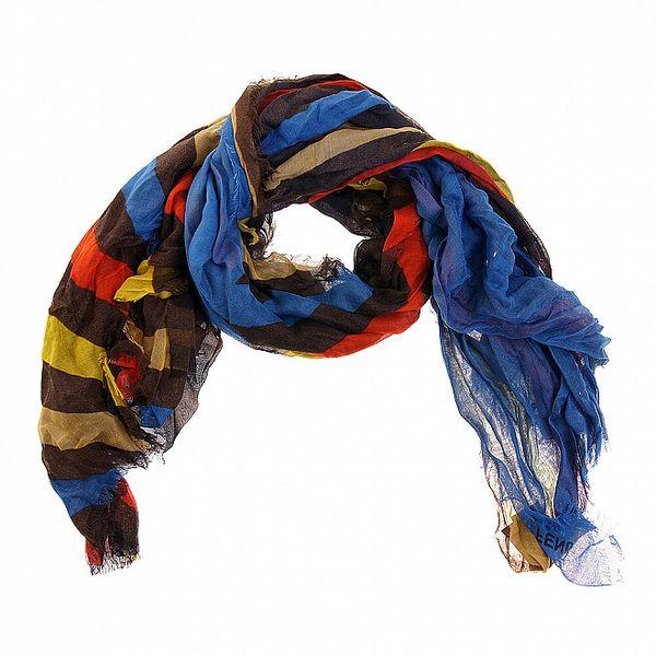 Dámský pestrobarevný proužkovaný šátek Fendi