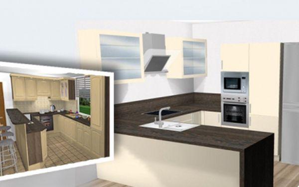 Rekonstruujete a nevíte si rady? Přáli byste si mít moderní a zároveň praktickou kuchyň? Věřte profesionálům a nechte si vypracovat grafický návrh kuchyňské linky! Návrh ve 3D provedení za 350 Kč! Sleva 71%!