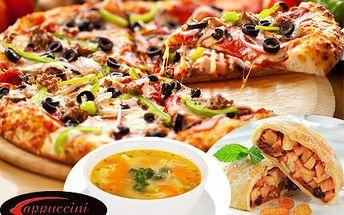 3 chody: Vývar, pizza a závin! Pochutnejte si v luxusní restauraci Cappuccini za super cenu!