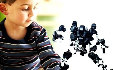 3D stavebnice! Skvělý dárek a zábava pro děti! Lze složit robota, štíra, kolo, pavouka a další!