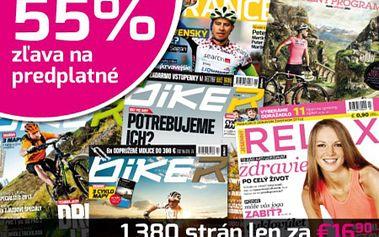 Predplaťte si kompletnú zbierku časopisov o bicyklovaní na rok 2013 za polovičnú cenu! Len za 16,90 € dostanete 15 unikátnych časopisov, spolu 1380 strán + nástenný kalendár zdarma!