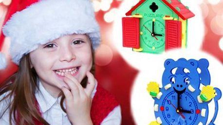 Dekorativní dětské hodiny! Rozveselte pokojík hodinami v podobě domečku nebo médi!