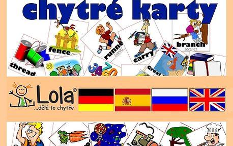 Chytré karty od Chytré Loly Vám pomůžou ke snadnému učení cizích jazyků. Využijete na dovolené, při cestování, zabavíte své děti a hravou formou procvičíte cizí jazyk. Na výběr máte různé jazyky a úrovně výuky! Skvělý dárek se slevou 42%!