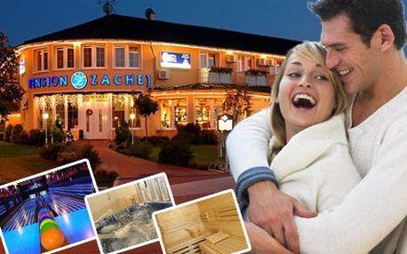 Len 110 € za fantastický 3-dňový WELLNESS pobyt v HOTELI penzión ZACHEJ*** v Piešťanoch. Komfortné ubytovanie, polpenzia, wellness priamo v penzióne, welcome drink a zábava v slávnom kúpeľnom meste so zľavou 50%.