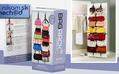 Organizér kabeliek Bag Rack, Úžasný pomocník Bag Rack Vám ušetrí veľa miesta a svojou všestrannosťou sa stane praktickou súčasťou každej domácnosti, teraz len za 9,90 €.