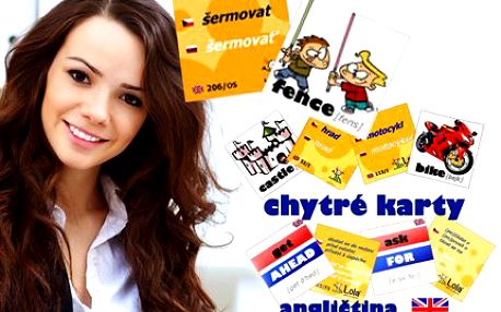 Chytré karty s angličtinou! Naučte se snadno a rychle anglicky s Chytrými kartami!
