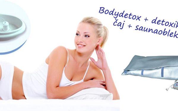 Detoxikační balíček: Bodydetox 30min + detoxikační čaj + 35min saunaoblek