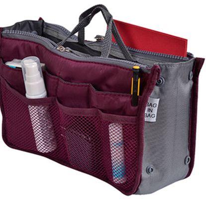 Nestrácajte čas hľadaním vecí v kabelke! Organizér za bezkonkurenčnú cenu 7,90 € vrátane poštovného! Viac ako 12 priehradok - vhodný aj ako obal na tablet či kozmetická taška!