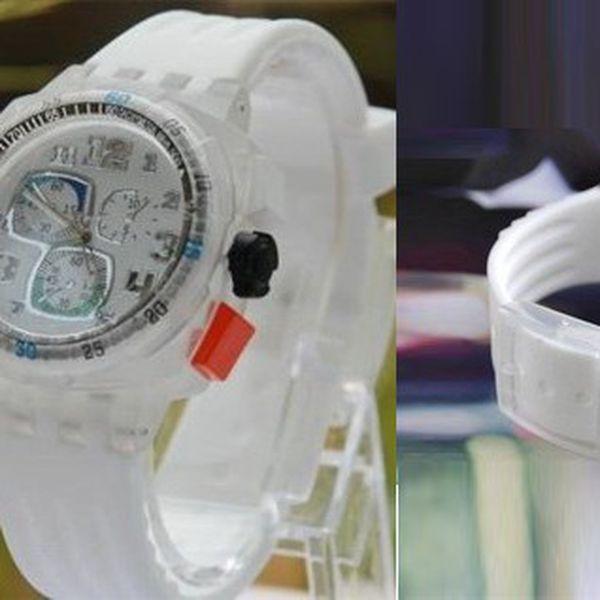 Moderní svítící QUARTZ hodinky v bílé barvě, které mění 6 barev se silikonovým řemínkem - hit letošního léta je tu!