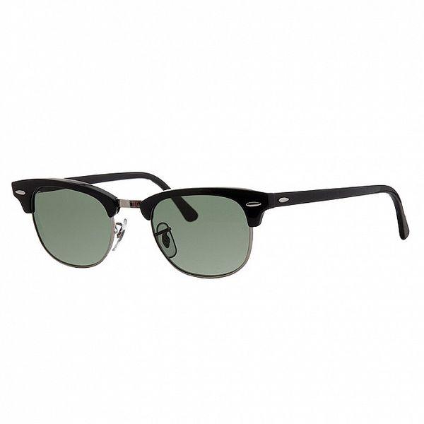 Černé sluneční brýle Ray-Ban se stříbrnými obroučkami