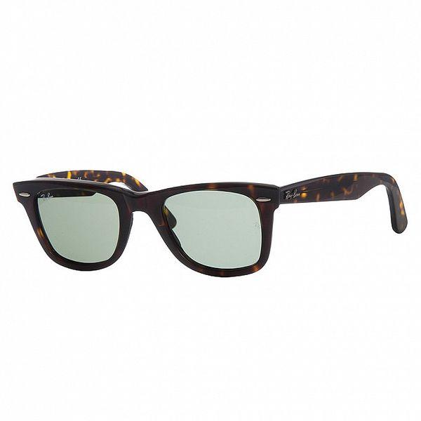 Tmavě hnědé žíhané sluneční brýle Ray-Ban Original Wayfarer