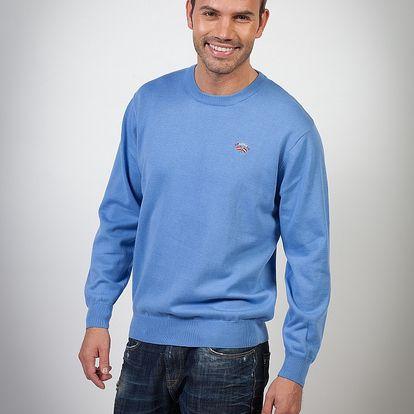 Pánský světle modrý svetr Spagnolo