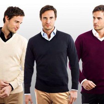 Pánský svetr Vincenzo Boretti! Elegantní italský design, špičkové zpracování, různé barvy a velikosti!