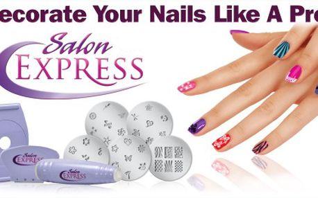 Ozdobte si nehty jako profesionálka v pohodlí svého domova za báječných 99 Kč. S novou metodou razítek na nehty Salon Express už nebudete potřebovat Vaši nehtařku!