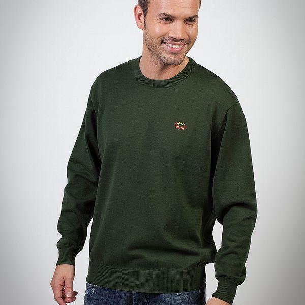 Pánský tmavě zelený svetr Spagnolo