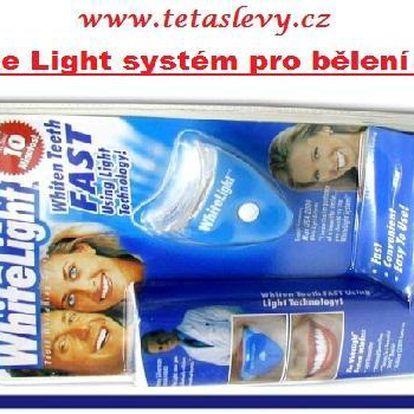 Bělení zubů v klidu Vám zajistí White Light za skvělou cenu 160kč a poštovné je již v ceně akce