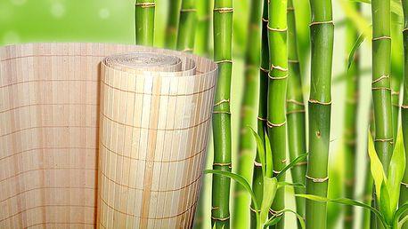 Bambusový obklad na stenu - originálna dekorácia do interiéru z prírodného materiálu.