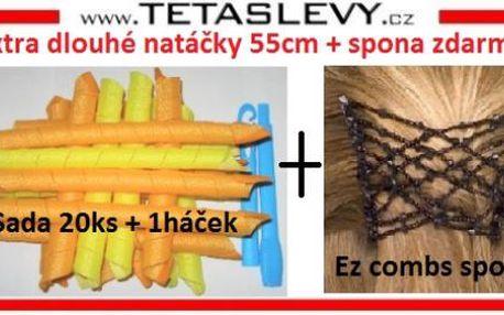 Extra dlouhé natáčky 55cm + spona Ez combs je zdarma-cena je včetně poštovného 440kč