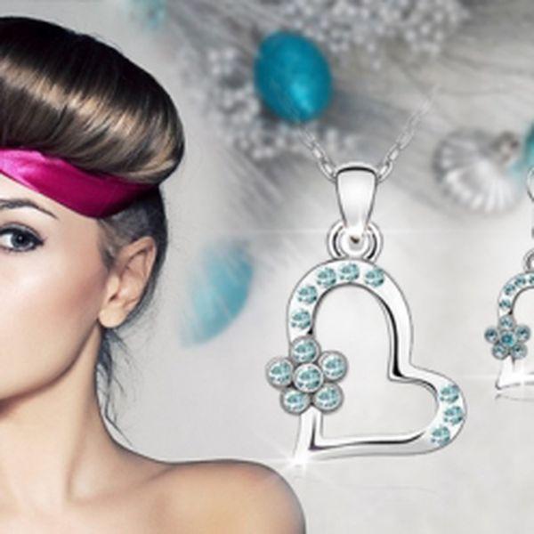 Krasný luxusní PORHODIOVANÝ SET S KRYSTALY SWAROVSKI CRYSTALLIZED ve tvaru srdce na cestě v pěti barevných provedeních za fantastickou cenu 399Kč VČETNĚ POŠTOVNÉHO! Oslňte své okolí překrásnými šperky se slevou 50%!