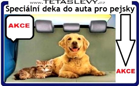 Speciální deka do auta pro vašeho psa a auto bude čisté za cenu 250kč včetně poštovného