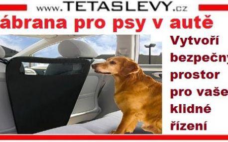 Zábranit nehodě v autě ?Vaši bezpečnost zajistí zábrana pro psa za cenu 219kč včetně poštovného