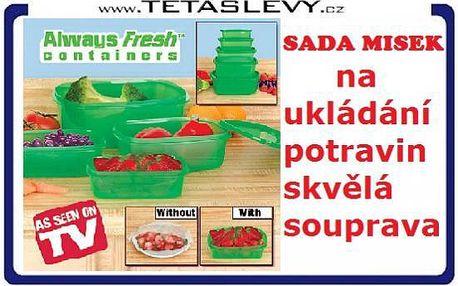 Zelené misky 5ks Freesh zajistí Vaše potraviny chutné a čerstvé za 160kč včetně poštovného