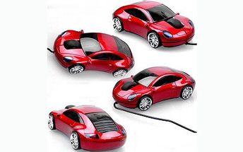 Stylová myš k počítači ve tvaru sportovního auta jen za 109 Kč! Myš v provozu svítí a určitě vám zvýší chuť do práce.