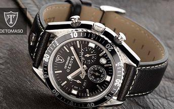 Exkluzívne pánske hodinky, Tieto jedinečné hodinky Detomaso Genova sú stelesnením luxusu, elegancie a kvality. Staňte sa ich nositeľom teraz za výhodnú cenu 85€