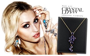 Swarovski elegantný náhrdelník,