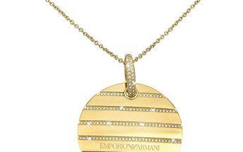 Luxusní náhrdelník Emporio Armani s krystalky + Měřič prstů ZDARMA + Háček na kabelku ZDARMA