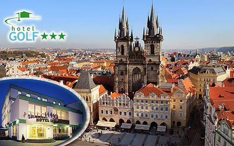 Čokoládová romantika v Hoteli GOLF*** v Prahe, pre 2 osoby na 3 dni priamo v krásnej a tajomnej Prahe
