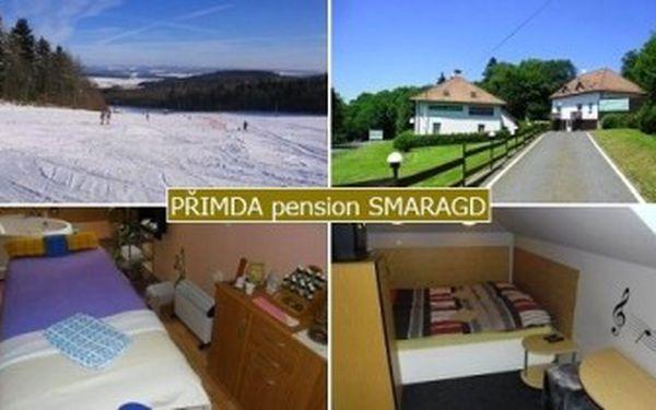 Jen 1 600 Kč za 3denní POBYT pro 2 osoby s POLOPENZÍ v pensionu Smaragd*** v Přimdě.