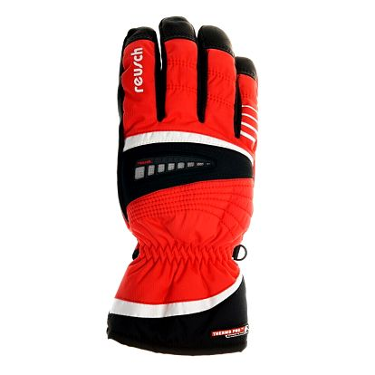 Pánské červené lyžařské rukavice Reusch s membránou