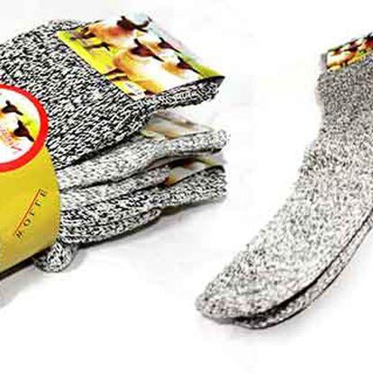 3 páry ponožek z norské vlny