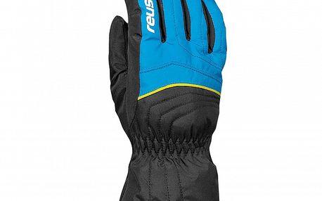 Dětské modro-černé lyžařské rukavice Reusch
