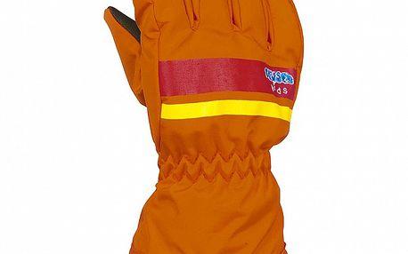 Dětské oranžové lyžařské rukavice