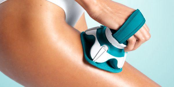 Přístroj na masáž a peeling Tchibo. Blahodárná vibrační masáž viditelně zkrášluje a prokrvuje pokožku.