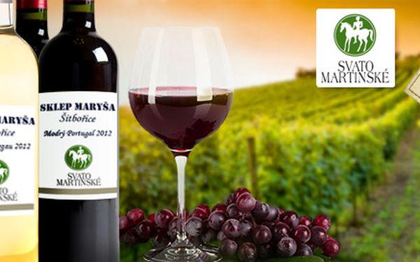 Sada čtyř svatomartinských vín ze sklepa Maryša
