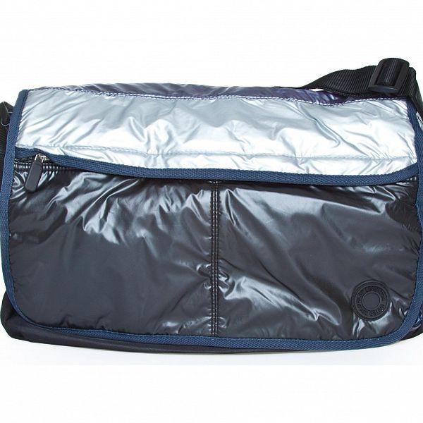 Dámská šedo-fialová nylonová taška Benetton
