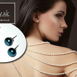 3 páry náušníc z pravých perál len za 12 €!, Stavte na originalitu a ozdobte sa elegantnými naušnicami z pravých sladkovodných perál so strieborným zapínaním...